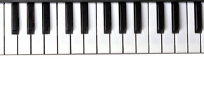 Piano keyboard. On isolated background - closeup stock photo