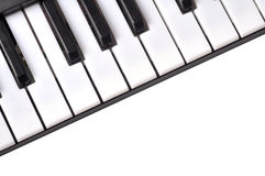 Piano keyboard. Very closeup shot of piano keyboard royalty free stock photo