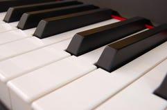 Piano keyboard. Close of a Piano keyboard stock photography