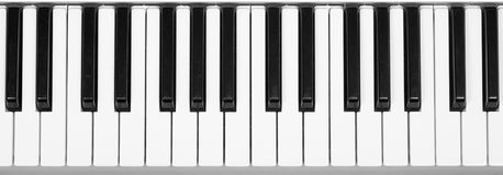Piano keyboard. Fragment studio shot stock photography