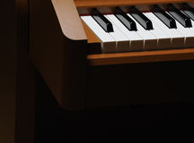 Piano keyboard. Black and white piano keyboard Royalty Free Stock Photography