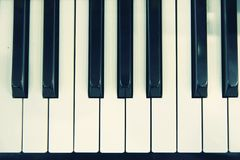 Piano keyboard. In close up stock photo
