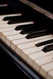 Piano keyboard. Close up of piano keyboard (diagonal composition stock image