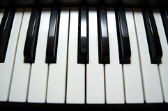 Piano keyboard. On wide angle Royalty Free Stock Photography