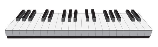 Piano keyboard. In white background Stock Photo