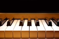 Piano keyboard. This is a close-up of a piano keyboard Stock Photography