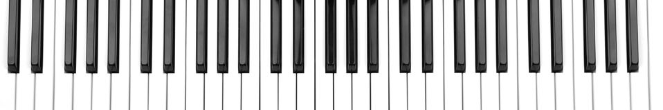 Piano keyboard. Object on white - piano keyboard close up royalty free stock photos