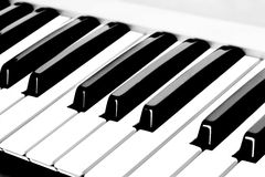 Piano Keyboard. (Piano / Synthesizer Keys Closeup View royalty free stock photo