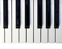 Piano keyboard. Royalty Free Stock Photo