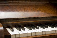 Piano keyboard. View of piano keyboard with black and white keys Royalty Free Stock Images