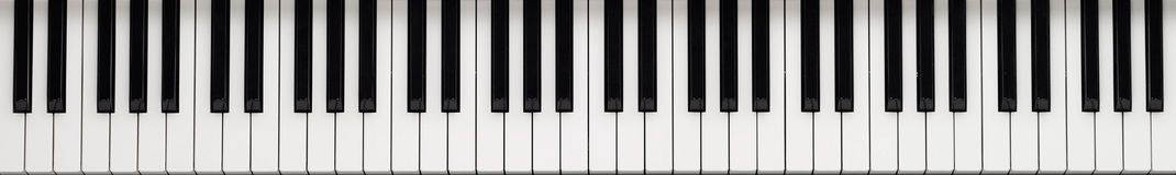 Piano keyboard. Piano fret pad keyboard background Stock Images