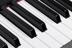 Piano keyboard. Close up of a piano keyboard Royalty Free Stock Images