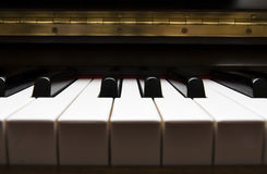 Piano keyboard. Detail of piano keyboard, key, melodic, creative stock photography