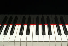 Piano keyboard. A piano keyboard, black and white royalty free stock photos