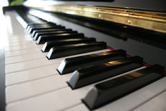 Piano Keyboard. Perspective view on a piano keboard Stock Image