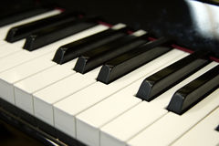 Piano keyboard. (Piano / Synthesizer Keys Closeup View royalty free stock images