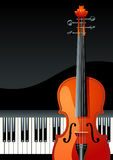 Piano keyboard. Violin and piano, vector illustration Stock Image