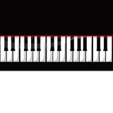 Piano keyboard. Vectorial piano keyboard representation isolated over white Stock Photos