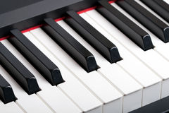 Piano keyboard. HQ contrast image Stock Photos