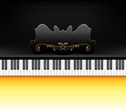 Piano keyboard. Elegance piano keyboard in vector format Stock Photography