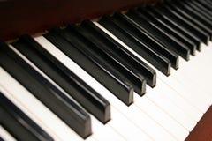 Piano keyboard. In closeup royalty free stock photos