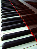 Piano keyboard background. Close up of a piano keybord stock photo