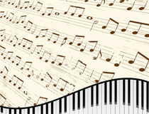 Piano Keyboard Background Stock Photos