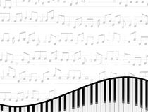Piano Keyboard Background Royalty Free Stock Photos