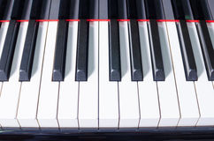 Piano keyboard background Stock Photography