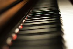 Piano keyboard background Royalty Free Stock Photo