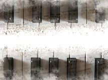 Piano keyboard background Stock Images
