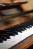 Piano keyboard background with selective focus Stock Images
