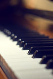 Piano keyboard background with selective focus Royalty Free Stock Image