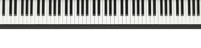 Piano keyboard background. On white royalty free stock photography