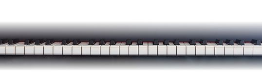 Piano keyboard, front view, copy space Stock Photography