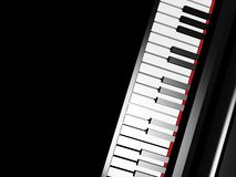 Piano keyboard on black background Stock Images
