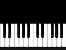 Piano Keyboard Black and White Background Stock Image