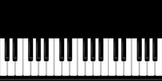 Piano Keyboard Black and White Background Royalty Free Stock Photography