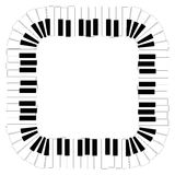piano keyboard, vector  Royalty Free Stock Images