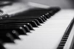 Piano keyboard. In black and white colours royalty free stock image
