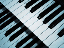 Piano keyboard in blue Royalty Free Stock Images