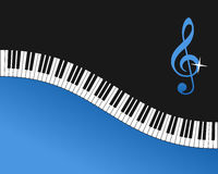 Piano Keyboard Blue Background Royalty Free Stock Photos