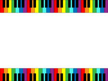 Piano Keyboard Border. Illustration of piano keyboard border in rainbow colors Stock Image