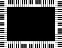 Piano Keyboard Border Stock Image
