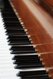 Piano keyboard. Close-up of piano keyboard stock photos