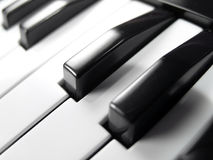 Piano Keyboard Close-up Stock Image