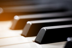 Piano keyboard. Close up of piano keyboard royalty free stock image