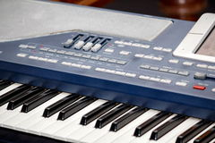 Piano keyboard. Close up of electronic piano keyboard stock image