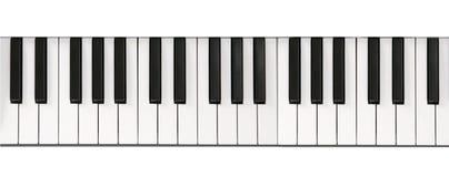 Piano keyboard close-up Stock Image