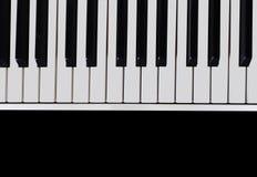 Piano keyboard close-up Royalty Free Stock Photography